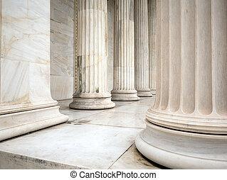 predios, pilares, atenas, grécia