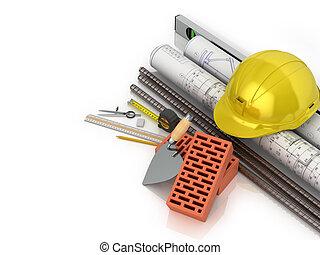 predios, poupar, conceived, ilustração, materiais, branca,...