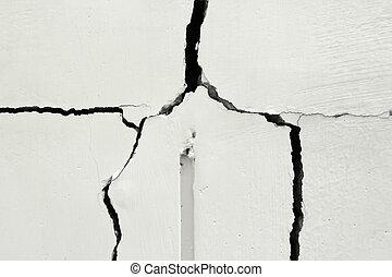 predios, reparar, parede, problema, necessidade, lar, problema, rachado