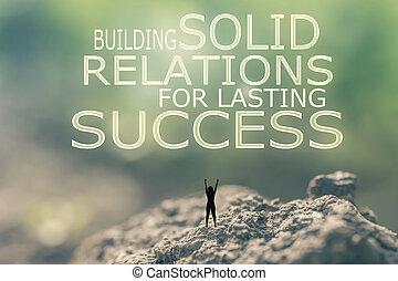 predios, sólido, relações, para, durar, sucesso