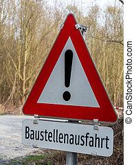 predios, tráfego, saída, local, sinal