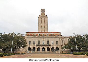 predios, universidade, principal, austin, campus, texas