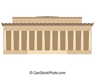 predios, vetorial, colunas