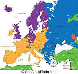 Predominant religious in Europe - Predominant religious...