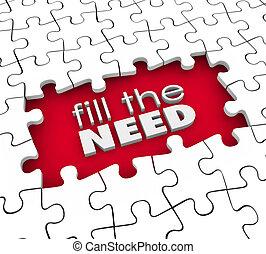 preencher, a, necessidade, cliente, demands, produto,...