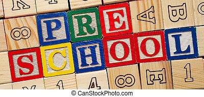 preescolar, bloques