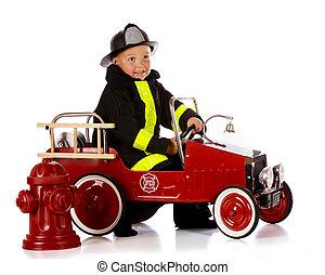 preescolar, bombero