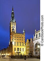 prefeitura velha, em, gdansk