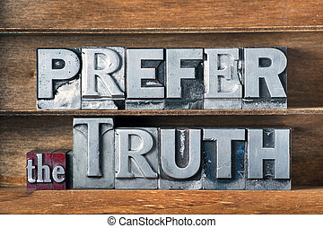 prefer the truth tray
