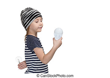 prefers, ランプ, energy-saving, 子供