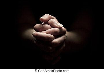 pregare, mani piegate