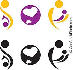 Pregnancy and motherhood symbol. Vectir illustration.