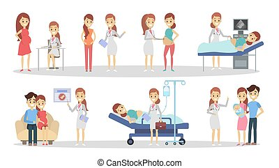 Pregnancy at clinic.