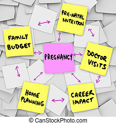 Pregnancy Concerns Expecting Mothers Parents Sticky Notes -...