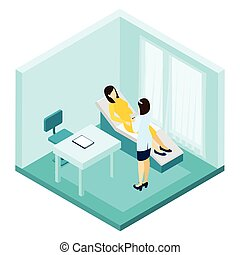 Pregnancy Consultation Illustration - Pregnancy consultation...