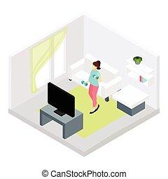 Pregnancy Fitness Illustration