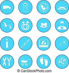 Pregnancy icon blue