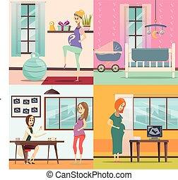 Pregnancy Icon Set