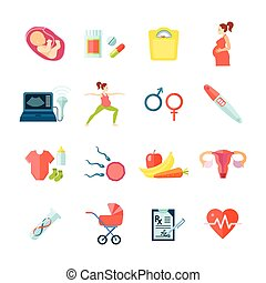 Pregnancy Icons Set