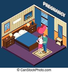 Pregnancy Isometric Composition