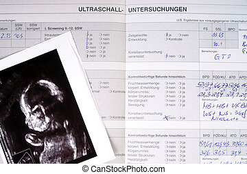 pregnancy - Mother pass and ultrasound image