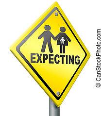 pregnancy test expecting newborn
