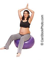 Pregnant doing fitness
