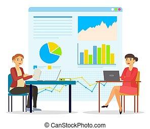 pregnant, données, fonctionnement, analyse, femmes, bureau