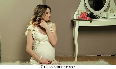 pregnant girl in front