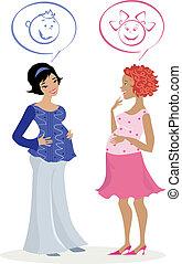 pregnant, quess, femmes
