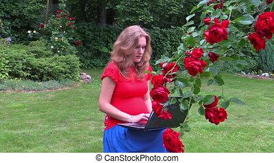 pregnant woman flower