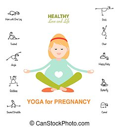 Pregnant woman, Happy mom concept, yoga for pregnancy