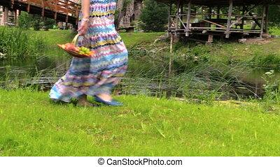 pregnant woman river