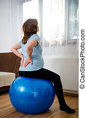 Pregnant woman with backache