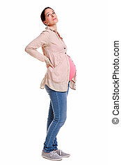 Pregnant woman with backache.
