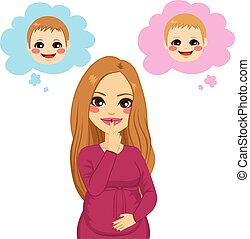 Pregnant Woman Wondering