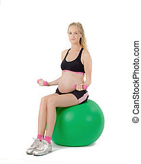 Pregnant Women Fitness Exercise
