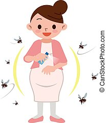 Pregnant women to spray insect repellent - Vector...
