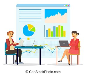 Pregnant Women Working in Office on Data Analysis