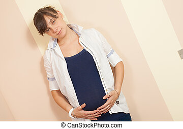 pregnant young woman