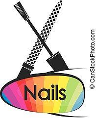 pregos, desenho, manicure, pedicure