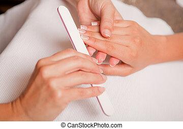 pregos, manicure