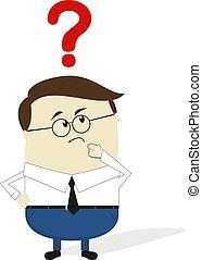 pregunta, caricatura