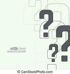 pregunta, icon., marca