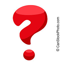 pregunta, rojo, marca