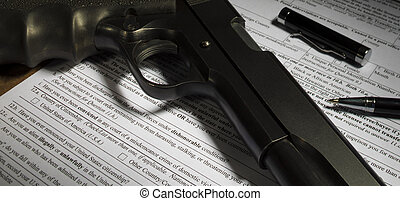pregunta, sobre, dishonorable, descarga, en, el, arma de fuego, transferencia, forma