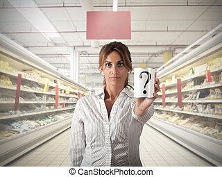 pregunta, supermercado