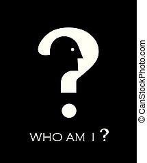 pregunta, yo., cabeza, marca