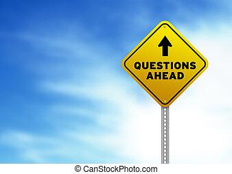 preguntas, adelante, muestra del camino