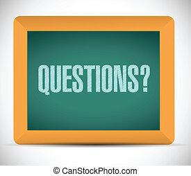 preguntas, mensaje, ilustración, diseño